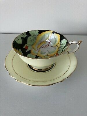 Vintage Paragon Bone China Cup & Saucer Pale Yellow 2 Of 2 • 12£