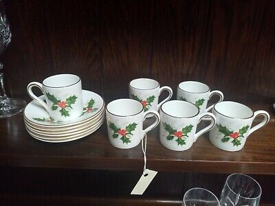 Set Of 6 Royal Grafton Coffee Cups And Saucers Vgc • 19.99£