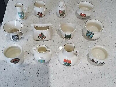 12 Pieces Of W H Goss Crested Ware • 9.99£