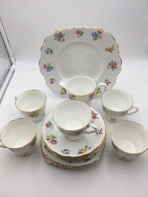 Vale Bone China Teaset, Flower Pattern 19 Pieces • 25.99£
