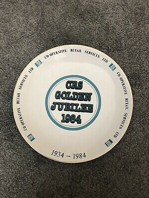 Co-operative Retail Services CRS Golden Jubilee Comemorative Plate 1984 • 4£
