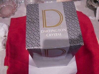 DARTINGTON CRYSTAL VASE WITH BOX UK,s ONLY REMAINING GLASS FACTORY UNUSED • 12.99£