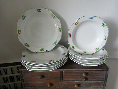Royal Norfolk Fruit Pattern 6 X Dinner Plates And 5 X Pasta Soup Dishes • 14.99£