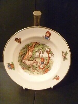 Vintage 1950s Childs Nursery Rhyme Theme Food Warmer Bowl / Dish From Holland • 27.99£