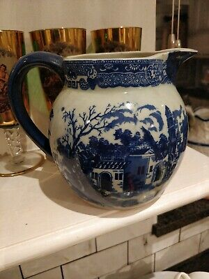 A Beautiful Vintage Large Victoria Ware Ironstone Flow Blue Style Pitcher • 12.50£