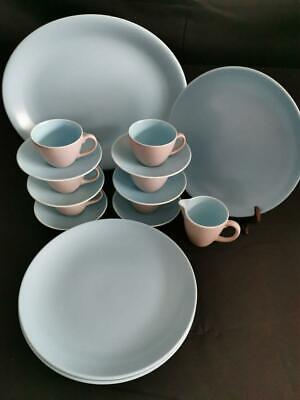 Poole Pottery Grey And Blue Glazed Dinner And Coffee Set • 19.99£