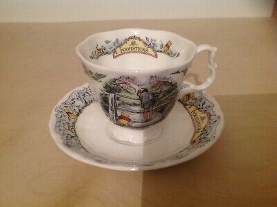 Royal Doulton Cup And Saucer Winnie The Pooh Poohsticks • 19.99£