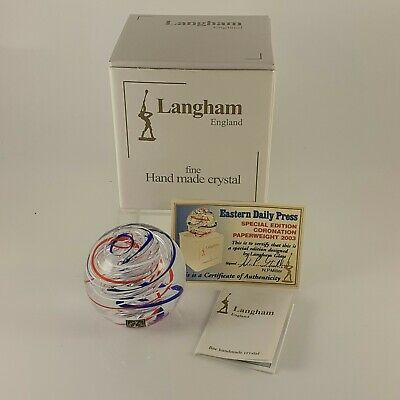 Langham Glass Paperweight Signed, Paul Miller, Special Edition 2003, Coronation • 59£