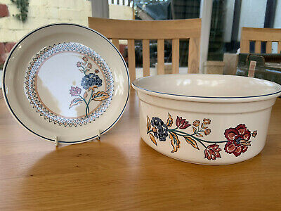 Boots Camargue Serving Dish And Plate, Vintage 1980s • 10.50£