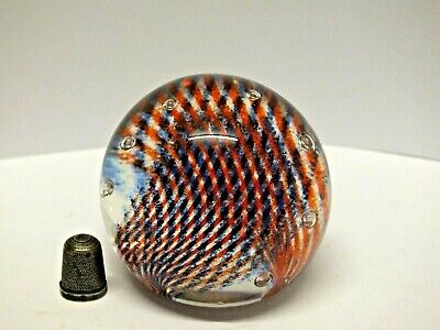 Caithness Of Scotland Glass Paperweight With Controlled Bubbles -  Tartan Twist  • 15.99£