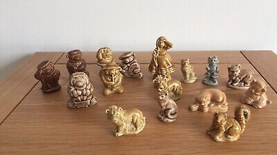 Wade Whimsies Tom Smith Christmas Cracker Bears And Cats Plus Little Bo Peep • 10£