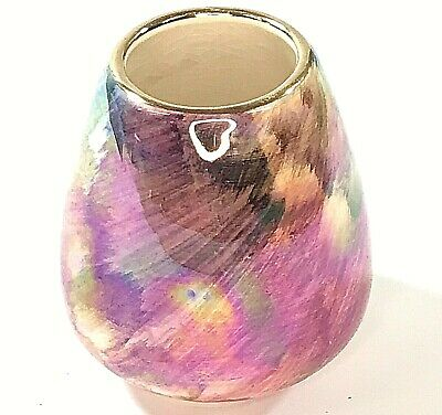 Vintage Pottery Oldcourt Ware England Hand Painted Vase • 9.90£