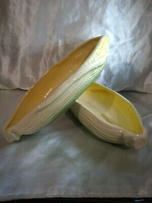 2xVintage Sylvac Corn On The Cob Dishes - 5043 - Original Sticker Uk Sell Only • 8.50£