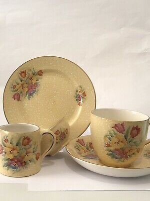 Tapestry Effect  Chintzware. Cup Saucer Plate. Jug And Sugar Basin - Gibsons • 12£