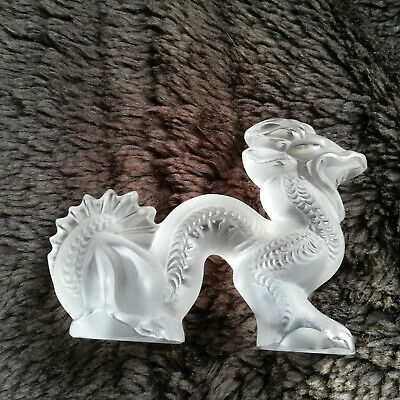 Retired Lalique Clear Dragon Signed • 140£