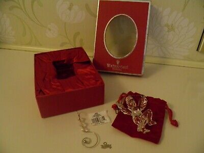 Waterford Crystal Made In Ireland 2004 Angel Ornament 128569 Sticker And Chain • 10£
