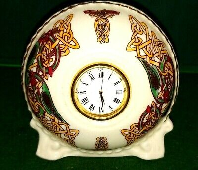 CRE Irish Porcelain Clock In Celtic Knot Design Signed By Joe McCaul • 9.99£
