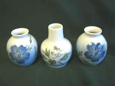 Royal Copenhagen Group Of 3 Small Vases - Lovely Condition • 14.99£