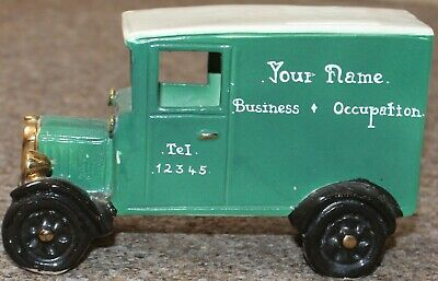 Model Pottery Delivery Van Signed  • 1.50£