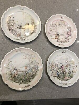 Royal Doulton Wind In The Willows Plates Set X 4 • 25£