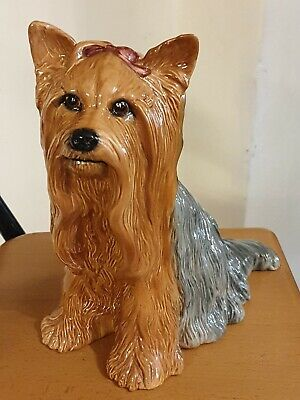 BESWICK LARGE YORKSHIRE TERRIER FIRESIDE DOG MODEL No. 2377 PERFECT CONDITION • 30£