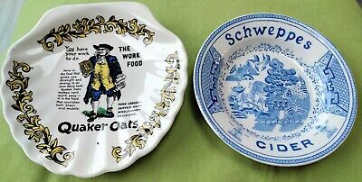 Advertising Quaker Oats Plate Lord Nelson Pottery & Schweppes Cider  • 5.99£