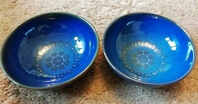 Denby Midnight Pattern - Two Soup Or Cereal Bowls • 15.99£
