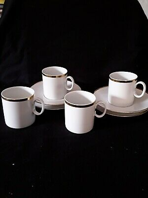 Thomas Germany Porcelain, Coffee/Espresso Cups/saucers • 7£