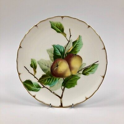 Superb Late 19thc. (1874-91) George Jones Crescent Plate. Hand Painted Pears P#1 • 105£