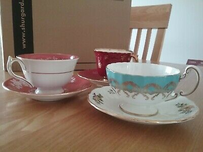 Anysley Antique China Teacups & Saucers • 40£