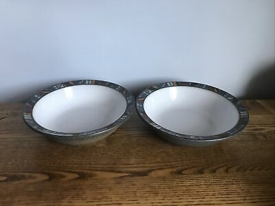 """Denby Marrakesh Soup/Cereal Bowls X2.  7"""" More Available • 28£"""