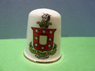 CRESTED CHINA . MODEL Of A THIMBLE - CREST Of EASTLEIGH • 4.99£