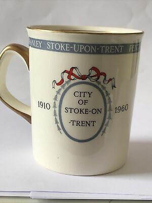 City Of Stoke On Trent - 50th Anniversary 1910 - 1960 - Crown Ducal - Commemorat • 8£