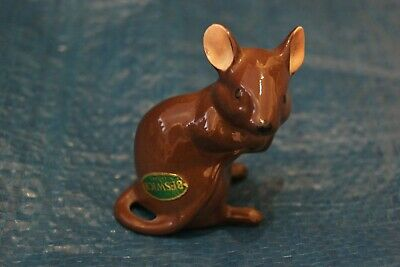Vintage Beswick Brown Mouse 2.5  Tall Very Good Condition • 14.99£