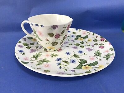 Queens Country Meadow Tennis Set Cup & Plate Duo Tea Set Afternoon Tea Rosina • 9.99£