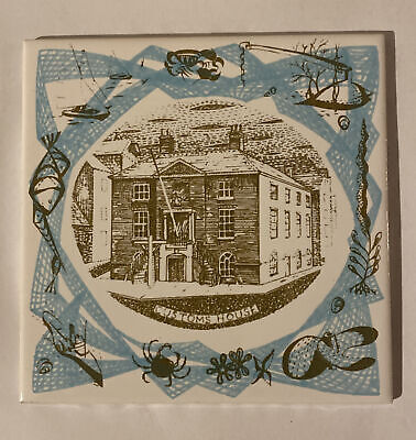 POOLE POTTERY CUSTOMS HOUSE TILE Designed By BERNARD CHARLES • 4.99£
