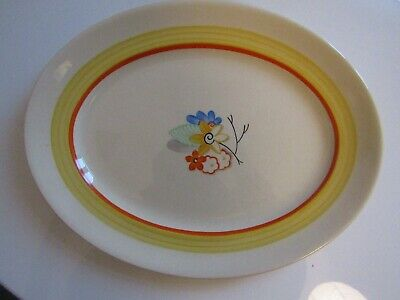 Two Grays Pottery Art Deco Serving Plates, Good Condition, Bright Colours • 25£