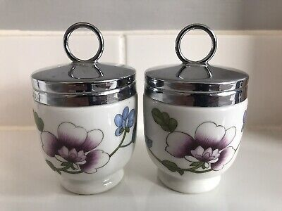 """X 2 Royal Worcester """"KING SIZE"""" Egg Coddlers """"PERFECT & UNUSED"""" • 5.21£"""