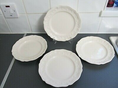 4 X Vintage Royal Creamware Side Or Salad Plates 21cms Lovely Condition • 7.95£