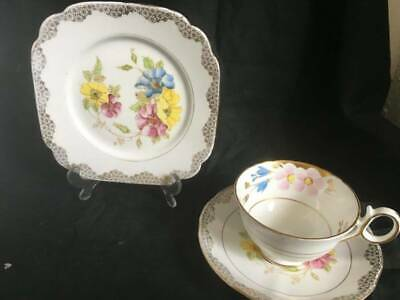 Vintage Bone China Trio Lawleys Delphine Cup Saucer Side Plate • 5.99£