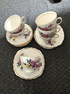 Vintage Royal Vale Bone China 6 Settings Of Teacup Saucer And Side Plate • 20£