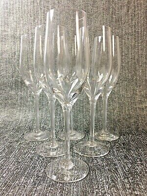 Wedgwood Lead Crystal Champagne Flutes Set Of 6  • 9.99£