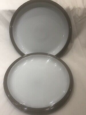 Denby 'Greystone' Pair Of Large Dinner Plates 26cm Mint Condition • 14£