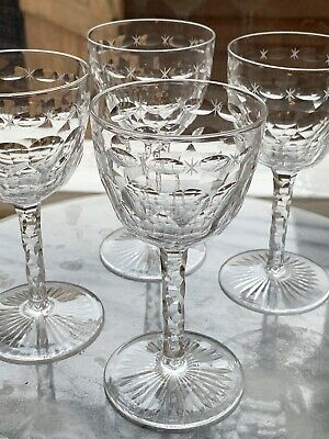 Baccarat, Saint-louis Etc French, Hand Blown Crystal Small Glass, Mint • 35£