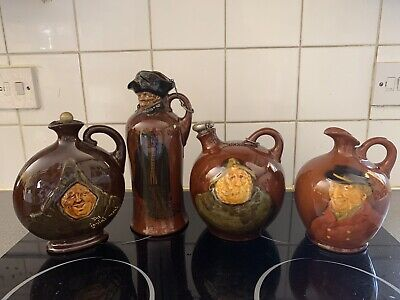 Royal Daulton Kingsware Flasks. Set Of Four • 180£