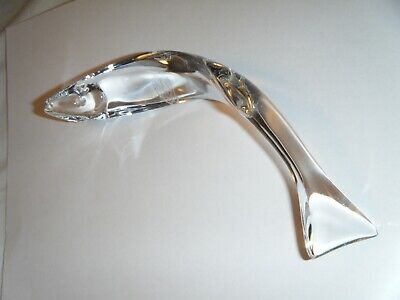BACCARAT Clear Glass Crystal Eel Swimming Fish Figurine France • 94.36£