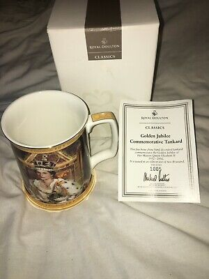 Golden Jubilee Commemorative Tankard Royal Doulton • 40£