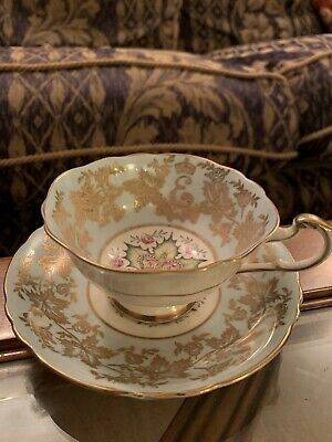 Paragon Queen Elizabeth Coronation 1st Anniversary Cup And Saucer *FADED GILT • 12£