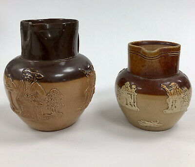 Pair Of Doulton Lambeth Jugs. One Signed Annie Partridge, The Other Unsigned. • 7.50£