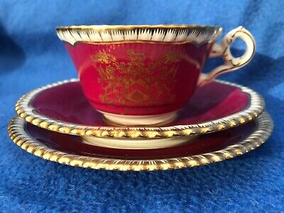 Spode Armorial Porcelain Cup Saucer Trio Worshipful Company Clothworkers Y7309 • 50£